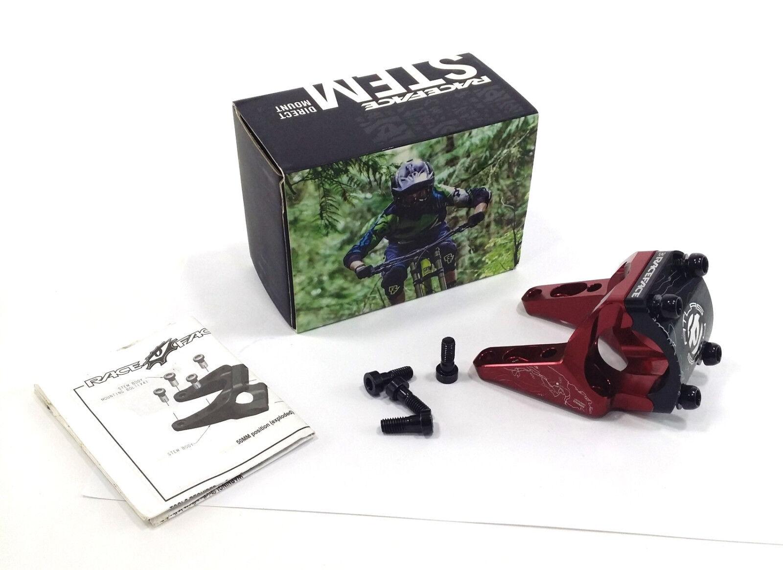Bicicleta De Montaje Directo Atlas Race Face vástago - 30 50mm X 31.8mm Rojo Bicicleta De Montaña descenso am