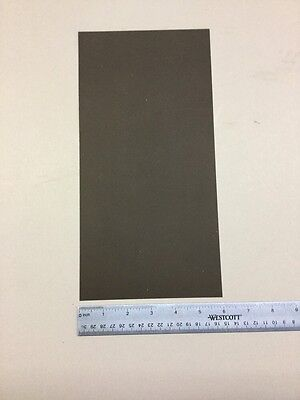 ".020/"" THICK BLACK POLYSTYRENE PLASTIC SHEET 6/"" x 12/"""