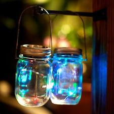 multi color outdoor solar jar design. 10 Pack LED Fairy Light Solar Mason Jar Lid Lights Color Changing Garden Decor Multi Outdoor Design