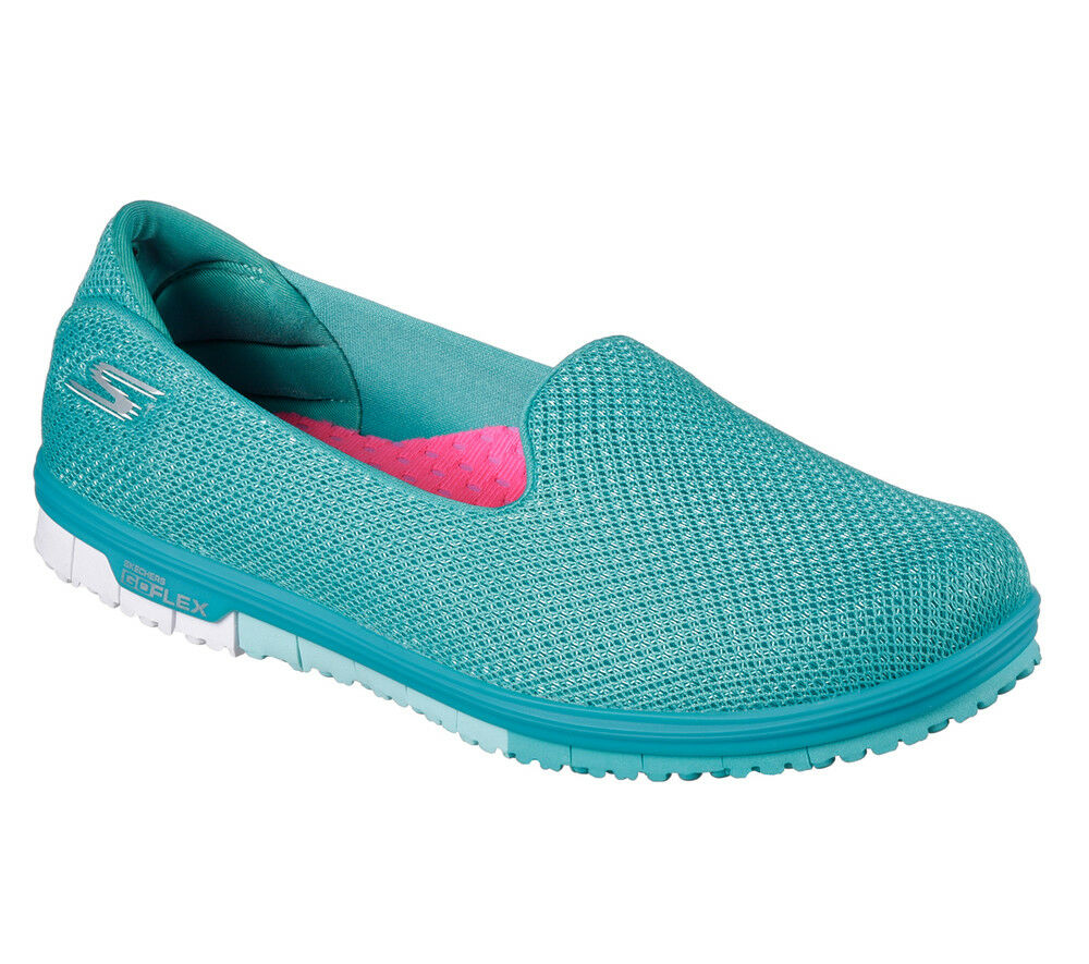 Nuevos Skechers Mujeres Zapatillas Zapatillas IR Mini Mini Mini Flex-admirar Turquesa Fitness d5696a
