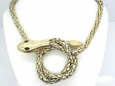New Snake Women Choker Austrian Crystal Necklace Gold Plated