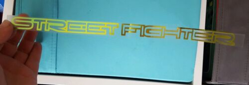 STREET FIGHTER DECALS STICKERS COLOUR CHANGING CHROME BLUE TO GOLD FLIP GREEN pr