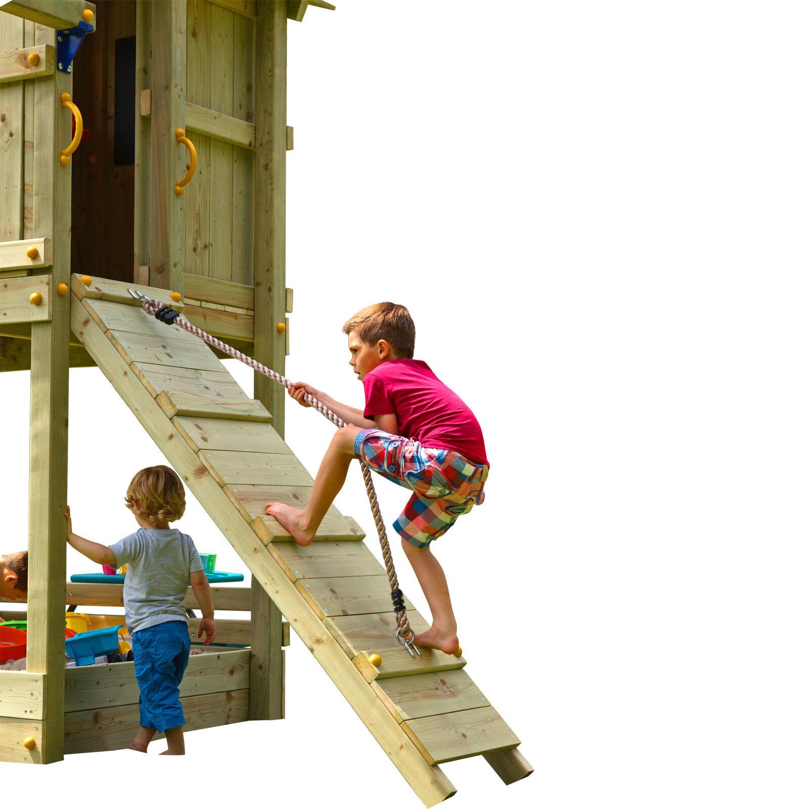 Blau Erweiterung Rabbit Anbaumodul Rampe mit Seil @RAMP Spielturm Erweiterung Blau Klettern 840f5b