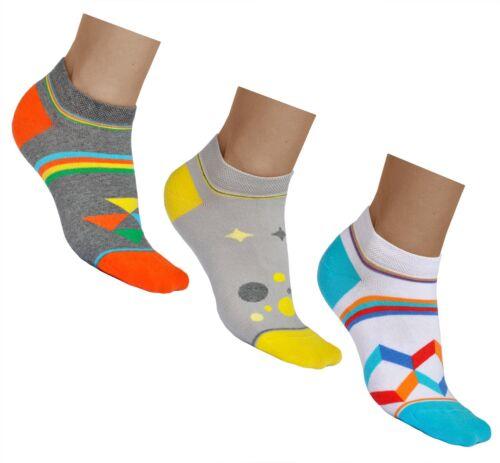 Kurze Socken Damen Sommer Bunte Muster Motiv BAUMWOLLE Vitsocks Sneaker JOY
