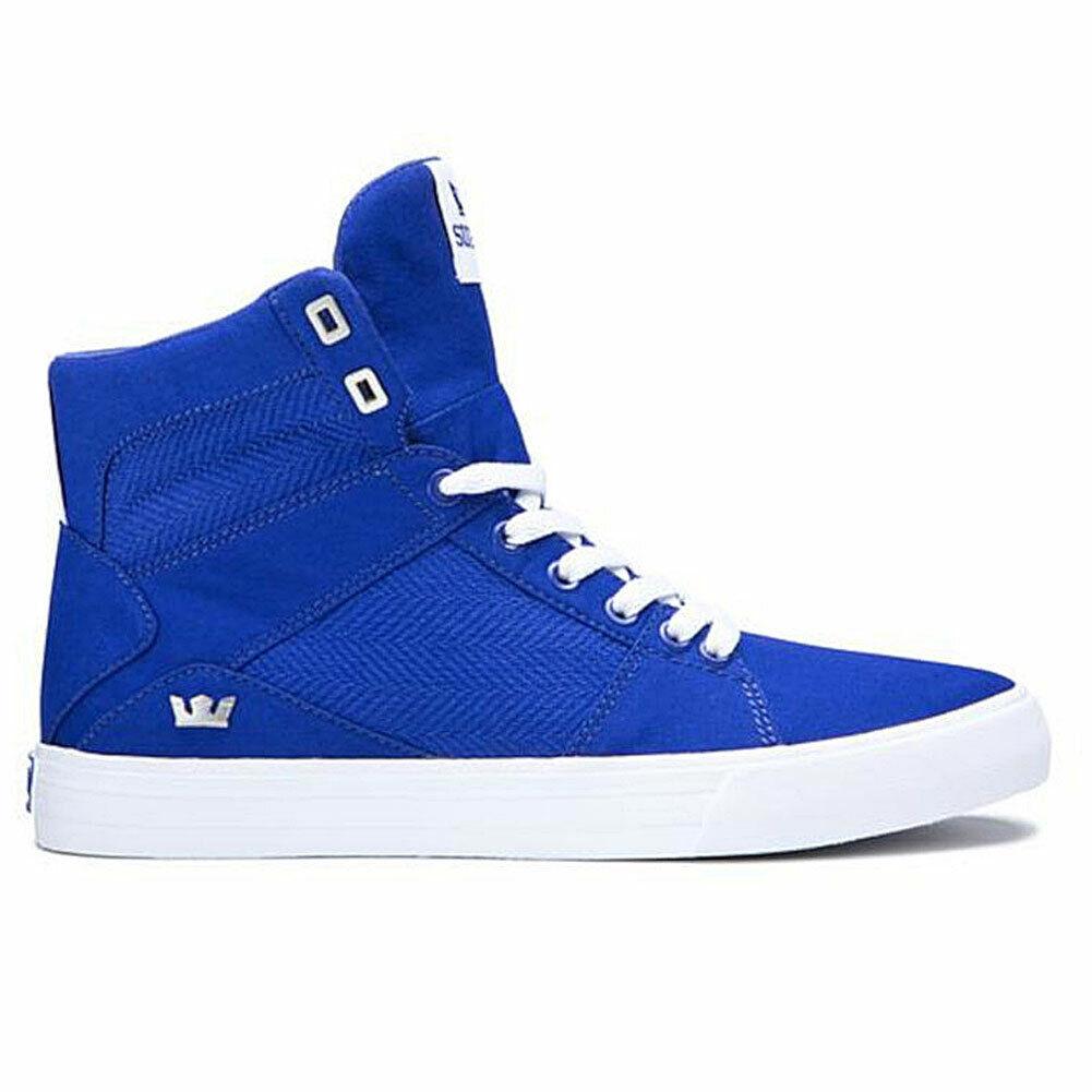 Supra Herren Aluminium Hi Top Turnschuhe Schuhe Blau Basketball Baller Hip Hop