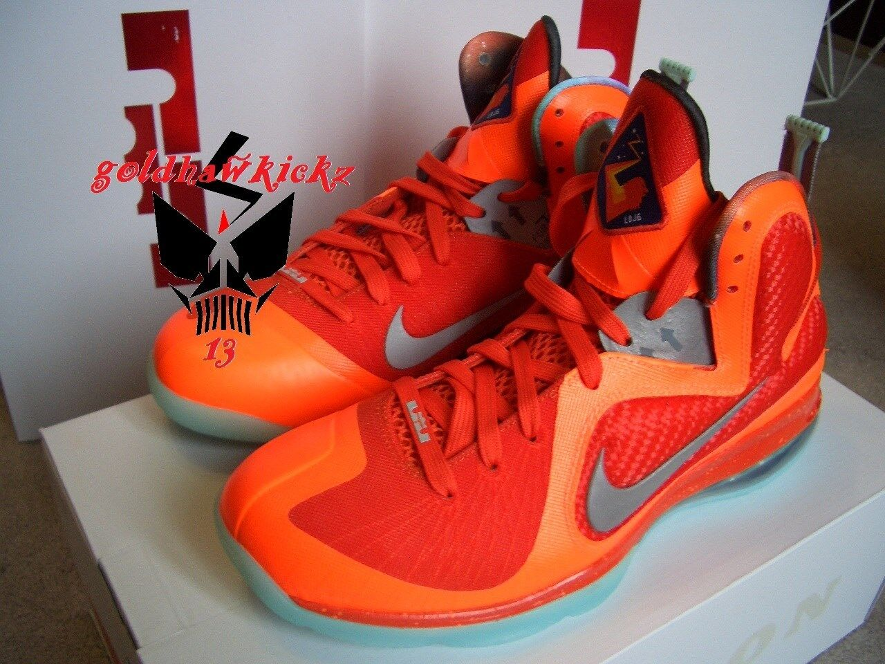 2018 NIKE lebron IX 9 nba all star game ASG big bang GITD bhm QS orange New shoes for men and women, limited time discount