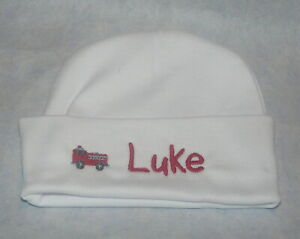 6dfb33843 Details about Personalized Baby Beanie Infant Hospital cap,infant hat.  Embroidered