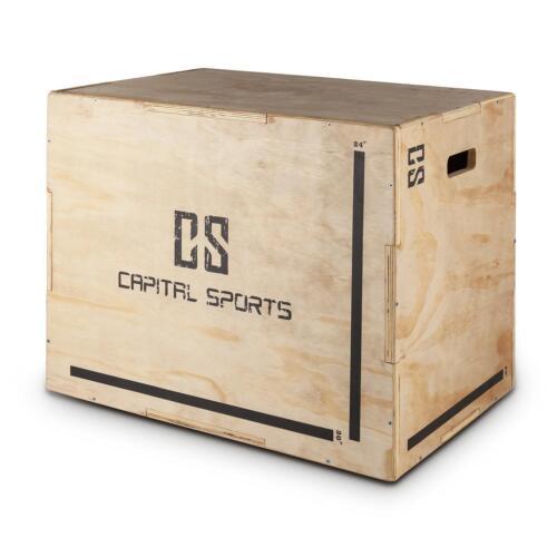 "CAPITAL SPORTS SPRUNGBOX SPRUNGKASTEN HOLZ JUMP BOX PLYOBOX 3 HÖHEN 20/"" 24/"" 30/"""