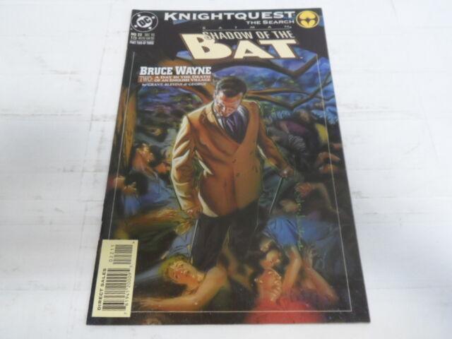 DC BATMAN SHADOW OF THE BAT BRUCE WAYNE PART-2 #22 DEC.1993