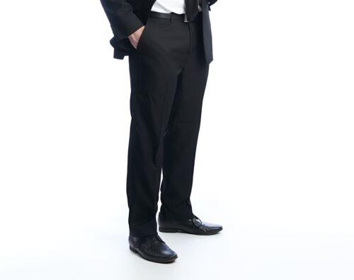 Pantalon noir pantalon avec bundfalte dans sous ont tailles coupe moderne