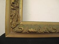 "Large Ornate Antique Victorian Gilt Deep Gesso Picture Frame fits 24"" x 20"""