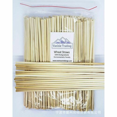 100Pcs Biodegrade Wheat Straw 20cm Organic Natural Disposable Drink Straw Trend