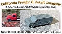 1975 Ford Econoline Van Kit (1 Kit) N/nn3/1:160-scale California Freight