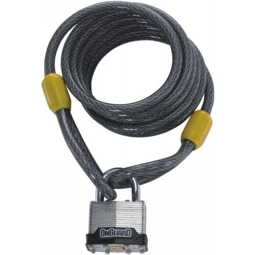 OnGuard 8033 Doberman Cable Key Padlock 8Mm X 6/'