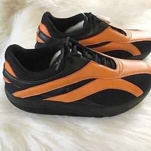 New Sz 10.5 MBT Womens Shoes Comfort Fire Black Orange Physiological Shoes  NIB   eBay