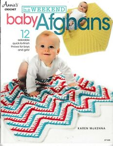 In-a-Weekend-Baby-Afghans-12-Throws-Annie-039-s-871608-Crochet-NEW