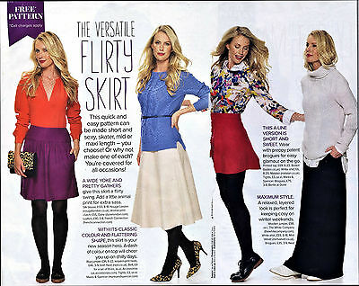£1 Flattering Feminine Pleated SKIRT EASY Prima Sewing Pattern 10 12 14 16 18 20