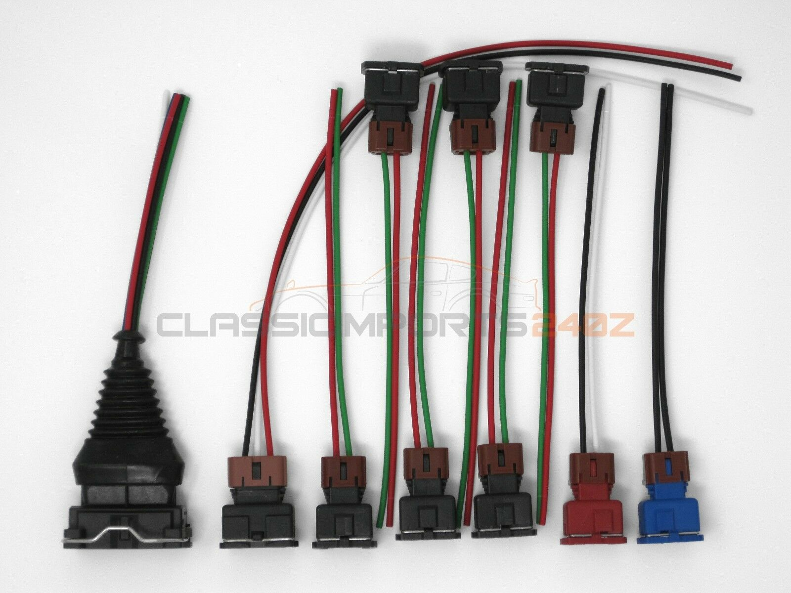 fuel injector maf tps wiring harness connector kit for ... 2002 2004 nissan maf 5 wire plug diagram #15