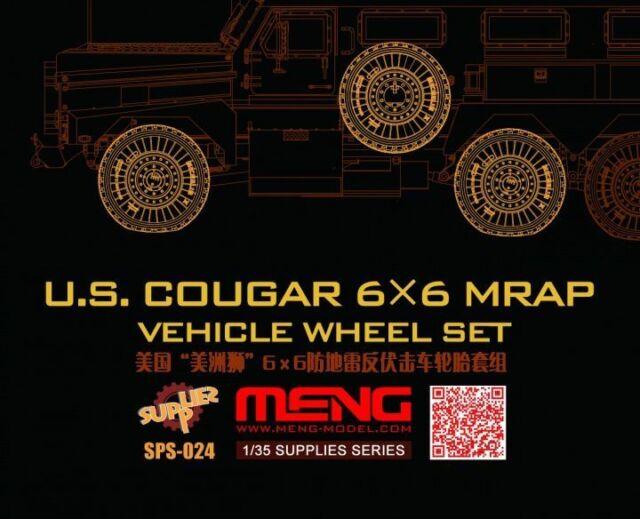 Meng-Model SPS-024 - 1:35 U.S.Cougar 6x6 MRAP Vehicle Wheel Set - Neu