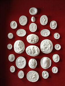 1-27-Grand-Tour-Cameos-intaglios-Gems-Medallions-plaster-cameo-seals-Classic