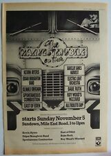 Electric Light Orchestra Kevin Ayers Roy Wood 1972 Poster Ad Uk Concert Tour