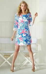 faa73cdc25d1 New Lilly Pulitzer Resort White She She Shells HARBOUR TUNIC Dress ...