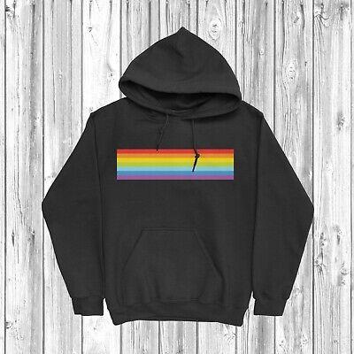 Rainbow Stripe Hoodie Gift Present LGBT Pride Love