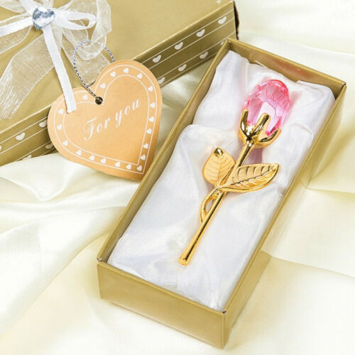 Details about  /Valentine/'s Day special  Crystal Rose With Metal Rod Flower Branch  Pendant