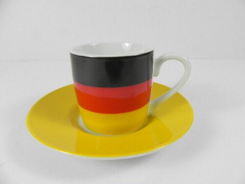 Deutschland Espressotasse Germany mit Unterteller,Porzellan,NEU