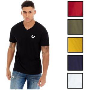 True-Religion-Herren-Classic-Hufeisen-Logo-V-Neck-Tee-T-Shirt