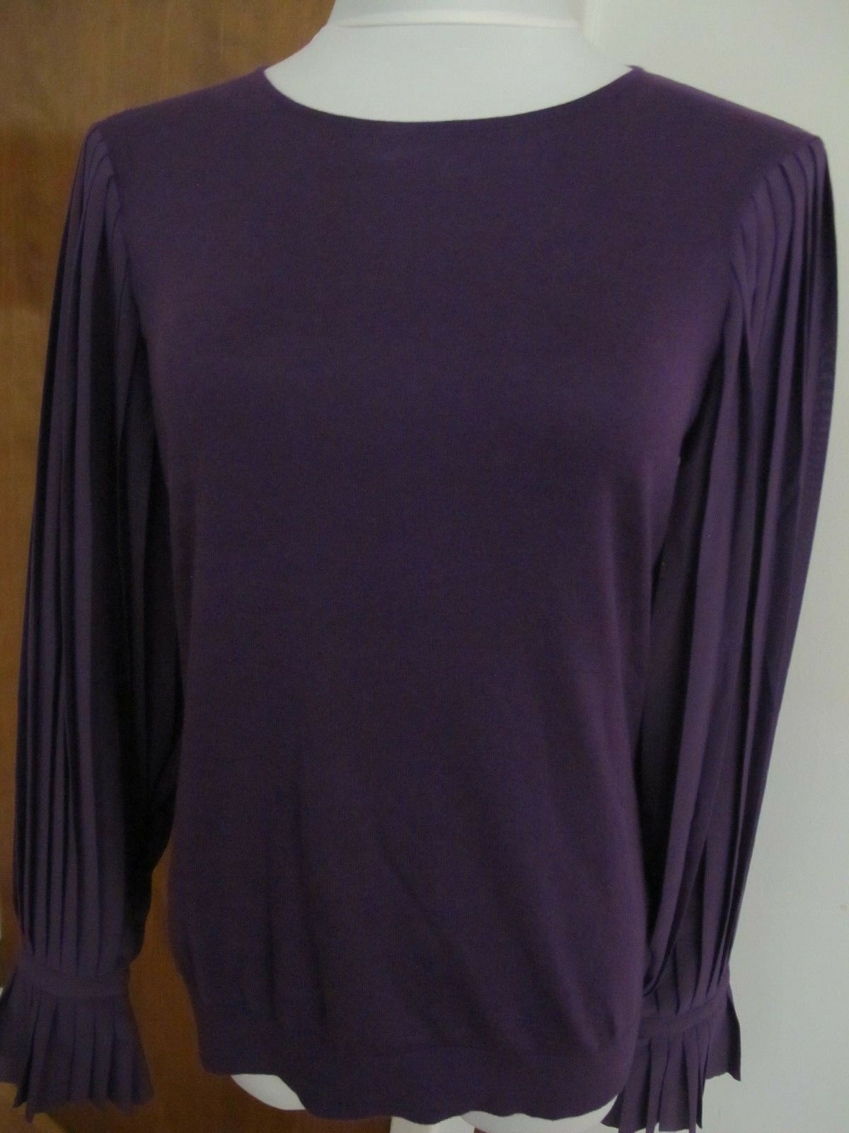 Ralph Lauren  damen lila crewneck cotton blend evening top Medium  NWT