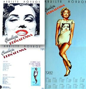 Marilyn-Monroe-LP-Goodbye-Primadonna-1981-Calendar-Poster-Import-Record-NM-M