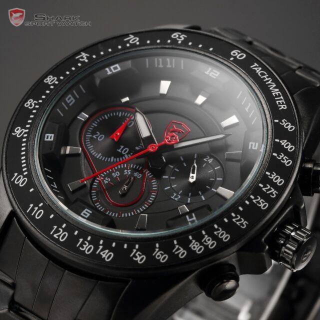 Snapper Shark Gen2 Mens Chronograph 24 Hours Sport Quartz Wrist Watch + Box