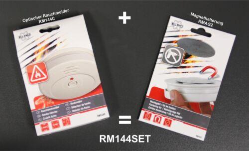 2 x Rauchmelder 2 Magnethalter DIN EN 14604 2er Set Pack Feuermelder NEU