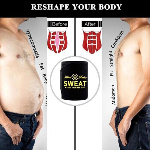 Sauna Slim Belt for Men Sweat Neoprene Waist Trainer Fat Burning Sports Wrap Top