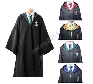 Adult Cosplay Robe Cloak Gryffindor Slytherin Hufflepuff Cloak