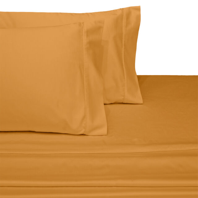 Attached Waterbed Sheets 100/% Combed Cotton Sateen Solid Deep Pocket 300 TC Set