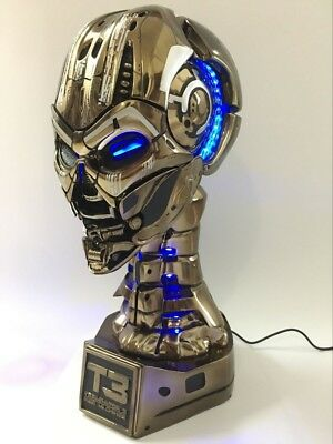 1/1 Terminator Salvation T3 Skull Life-Size Bust Statue Figurine Collectibles