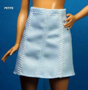 Barbie Fashionista 122 Light Blue Denim Skirt PETITE REGULAR