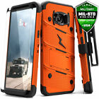 Samsung Galaxy S8 / S8+ Case,Zizo Bolt w/ Screen Protector Holster and Kickstand