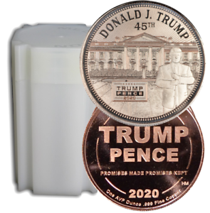 t4c Twenty Trump White House With 2020 Rally Sign 1oz Proof Like Copper Round