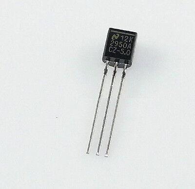 10PCS LP2950-5.0 IC REG LDO 5V 0.1A TO92 NEW