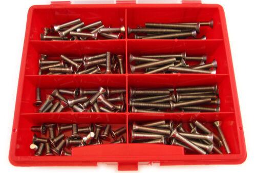 140tlg Sortiment-Box Senkschrauben DIN 7991 EDELSTAHL V2A M5x12-5x50 rostfrei