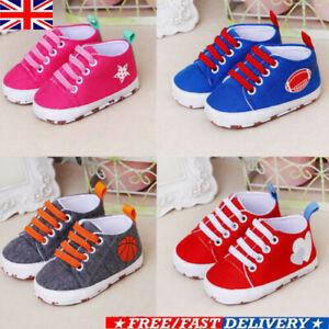 Newborn-Baby-Boys-Girls-Pre-Walker-Soft-Sole-Pram-Shoes-Canvas-Sneakers-Trainers