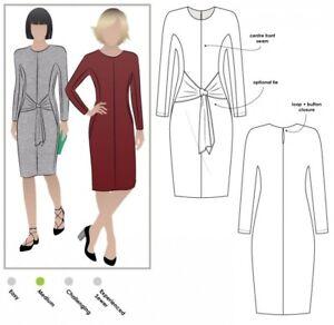 MLDK019S-M Style Arc Ladies Sewing Pattern Lea Knit Wrap Dress