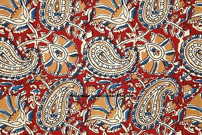 Cotton Floral Printed Fabrics Indian Hand Block Print Running Sanganeri Fabric