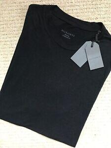 All-Saints-Homme-Noir-de-Jais-034-TOWAL-034-S-S-Ras-Du-Cou-T-shirt-homme-XS-S-M-L-NEUF-amp