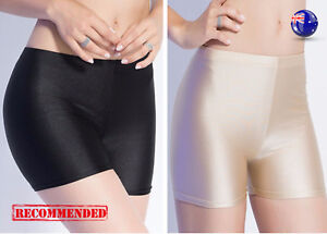 Women-Shiny-Metallic-Wet-look-undie-Shorts-Safety-Underwear-Short-Pants-Panties