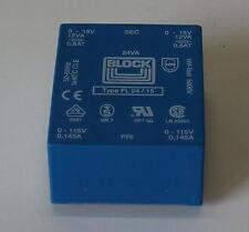 03-25-00661 Trafo FL24/15 115/230V~ zu 2x15V~ 24W Transformator Printmontage