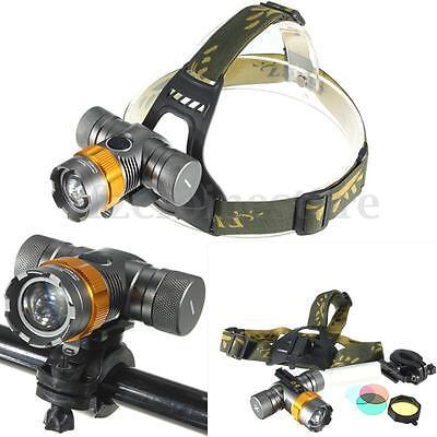 Elfeland 6000Lm T6 LED Headlamp Bicycle Bike Cycling Front Head Light Lamp